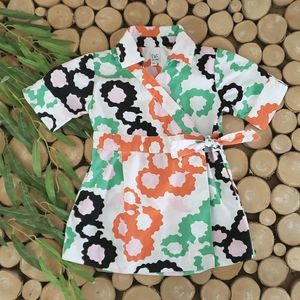 DVF Baby Gap Abstract Floral Wrap Dress
